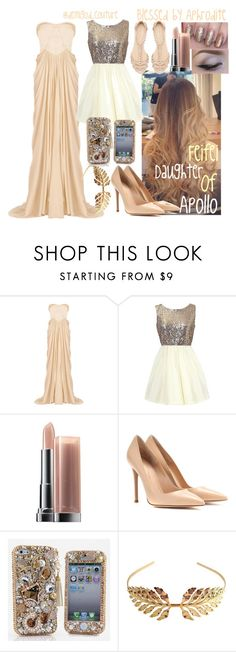 """""""Daughter of Apollo (follow my Instagram: @demigod_couture )"""" by demigod-couture ❤ liked on Polyvore featuring beauty, Badgley Mischka, Maybelline, Gianvito Rossi and Tuleste"""