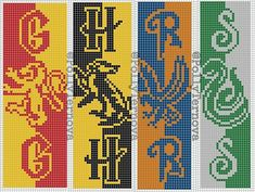 Made by me✌️ Hope you enjoy your handmade! Harry Potter Bookmark, Harry Potter Scarf, Harry Potter Crochet, Alpha Patterns, Loom Patterns, Cross Stitching, Cross Stitch Embroidery, Cross Stitch Art, Cross Stitch Designs