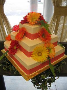 Gerber Daisy Wedding Cake | A Wedding Cake Blog