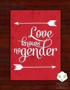Greeting card  Love knows no gender  blank by PapersaurusCreative, $3.50