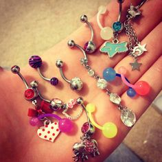 Belly button rings!