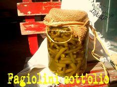 Dopo il successo riscontrato con le zucchine, le melanzane e i peperoni sott'olio tra tutte, ecco un'altra rara conserva: fagiolini sott'olio