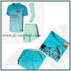 Alle Barcelona 3e Shirt Kinderen Blauw Nike 2016 2017