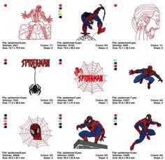 Spider Man Super Heroes Embroidery Machine Designs