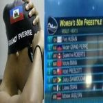 Naomi Grand'Pierre of Haiti's Olympic Swim Team, makes Olympics history