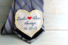 Groom Tie. Necktie. Wedding. Mens Ties. Wedding Keepsake.