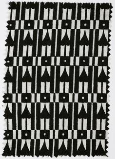 Textile sample, Wiener Werkstatte #black #white #pattern