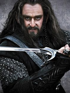 Thorin Oakenshield...from The Hobbit... Played by Richard Armitage ''There are elements of Tolkien's description of Thorin that I'm trying to evolve,'' says Armitage. ''I'm trying to make him more…