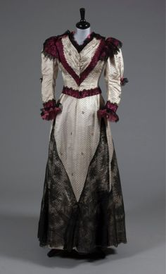 Evening dress by Lucile, 1897.