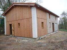 maison mixte en bois et paille  et ossature bois, charpente traditionnelle en…