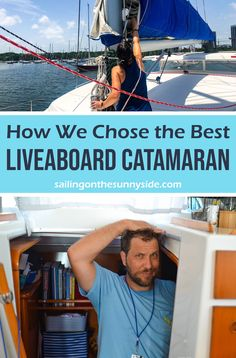 What we learned when we set out to buy a boat to live aboard. With little sailing experience, we had to do a lot of research and rely on the knowledge of others in the boating community. Liveaboard Sailboat, Liveaboard Boats, Sailboat Living, Living On A Boat, Sailing Catamaran, Ocean Sailing, Sailing Ships, Boating Tips, Fast Boats