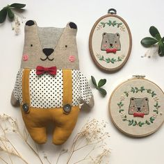 Amazing Home Sewing Crafts Ideas. Incredible Home Sewing Crafts Ideas. Softies, Fabric Toys, Fabric Crafts, Tilda Toy, Embroidery Hoop Crafts, Embroidery Art, Fabric Animals, Diy Couture, Sewing Dolls