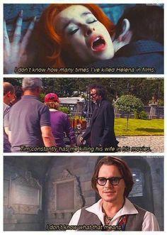 Johnny Depp and Tim Burton's wife