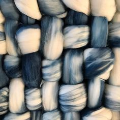 indigo and roving should always be friends! Dyed by the talented and amazing and incredible @a.guery for our collaborative exhibition on Thursday at @villaroseparis