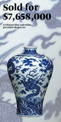 Fine Chinese Blue and white Porcelain Hand-painted Dragon Bowls Qianlong Mark
