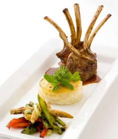 French Rack of lamb with a parnsnip dauphinois