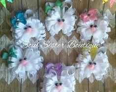 Bunny clip Easter bunny Easter Hair Clip Bunny Hair Clip