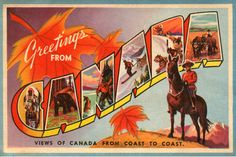 CCT0017 - Large Letter Greetings from Canada from postcard booklet cover c1935.