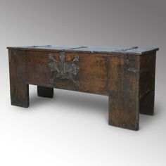 A magnificent early 16th Century Westphalian, Iron-banded, Oak Chest  http://www.loveantiques.com/a-magnificent-early-16th-century-westphalian-iron-banded-oak-chest-3134
