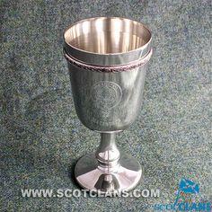 MacArthur Clan Crest Pewter Goblet