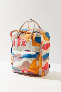Shop Fjallraven Kanken Art Series Backpack at Urban Outfitters today. We carry all the latest styles, colors and brands for you to choose from right here. Mini Backpack, Travel Backpack, Fashion Backpack, Cute Backpacks For Traveling, Cool Backpacks, College Backpacks, Colorful Backpacks, Fjallraven, Tactical Backpack