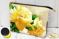Роза флорибунда   Тэла Артис косметичка пошита17х23х3см Кол-во цветов: 15 Кол-во бисера: 7976 190 грн
