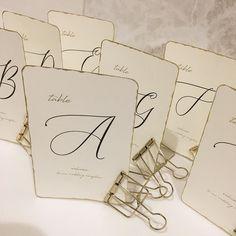 【300円DIY】海外風でおしゃれ♡紙をちぎってまわりをゴールドにするテーブルナンバーが流行中! | marry[マリー] Wedding Bells, Wedding Ceremony, Wedding Flowers, Stationery Paper, Table Cards, Wedding Paper, Diy And Crafts, Display, Bridal