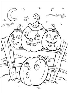 Halloween+Coloring+Pages | Printable page Pumpkins for Halloween | Coloring pages