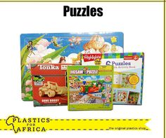 At #PlasticsforAfrica, we have a wide selection of puzzles for kids to keep themselves busy with during the school holiday. Visit your nearest branch. #SchoolHolidays