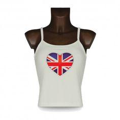 Women's style fashion Top - British Heart https://www.apprentiphotographe.ch/shop/en/women-s-t-shirts-heart-and-love/801-women-style-fashion-top-british-heart.html