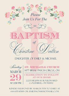 Bautismo para imprimir invitación niña bautismo por EniPixels