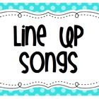 24 Songs and Chants for Lining Up - Offered for free by Mrs. Ricca's Kindergarten.  Who knew a simple routine could be so much fun?