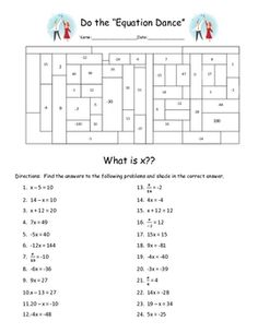 Worksheet Solving One Step Equations Worksheet equation algebra equations and charts on pinterest solving one step fun activity