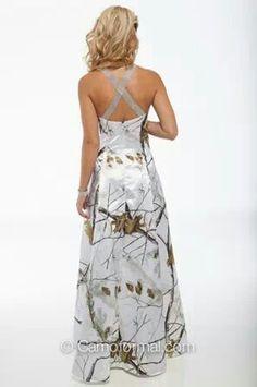 Realtree White Camo Wedding Dress