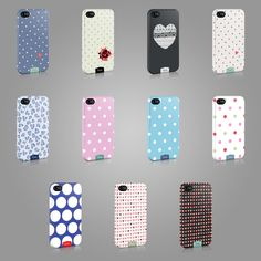 NEW TIRITA CASE HARD COVER FOR IPHONE OR SAMSUNG TREND HEARTS POLKA DOTS FASHION