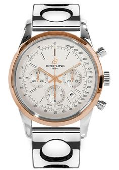 Breitling Watches - Transocean Chronograph Steel and Gold - Bracelet - Style No: UB015212/G777-air-racer-steel