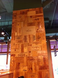 Wine Crates and Boxes: 10 Best Wine Crate Panel Walls Wooden Wine Boxes, Wooden Crates, Wine Crates, Wine Cellar Basement, Wood Mosaic, Wine Bottle Holders, Wine Time, Wine Storage, Wall Treatments