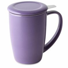 FORLIFE Uni Brew-in-Mug with Tea Infuser and Lid 16-Ounce Purple