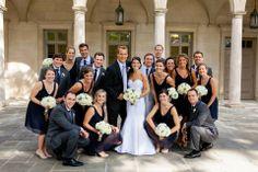 Navy/mint wedding