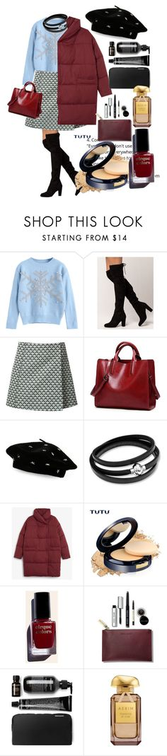 """chrismast"" by santyfebrina-nasution ❤ liked on Polyvore featuring Misha Nonoo, Steve Madden, Monki, Cirque Colors and Bobbi Brown Cosmetics"