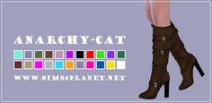 Madlen Casilda Boots at Anarchy-Cat • Sims 4 Updates