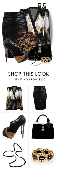 """Don't Be Afraid To Take Chances!"" by flippintickledinc ❤ liked on Polyvore featuring Balmain, Versace, Christian Louboutin and Miu Miu"
