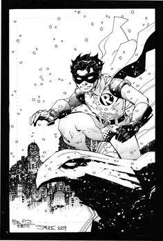 "gothamart: "" Robin by Jim Lee "" Batman Comic Art, I Am Batman, Batman Comics, Batman Robin, Robin Comics, Dc Comics Art, Batman Drawing, Comic Drawing, Nightwing Young Justice"