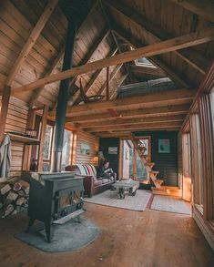 It's a Man's World - Hüttenzauber - A Frame Cabin, A Frame House, Tiny House Movement, Cabin Homes, Log Homes, Tiny Homes, Ontario Cottages, Cabins And Cottages, Small Cabins