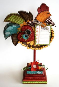Altered Rooster decoration Visit,Like and Shop our Facebook page https://www.facebook.com/RusticFarmhouseDecor