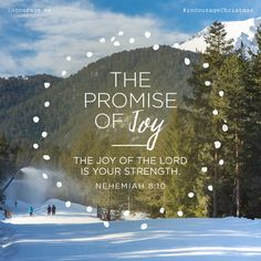 """The Promise of Joy // """"The joy of the Lord is your strength."""" {Nehemiah // 25 Days of Christmas Promises Scripture Verses, Bible Verses Quotes, Bible Scriptures, Faith Quotes, Bible Prayers, Inspirational Verses, Joy Of The Lord, Biblical Quotes, Favorite Bible Verses"""