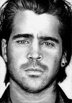 Colin FARRELL by Sadness40 on deviantART ~ traditional pencil portrait