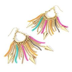 Fringe & Arrowhead Chandelier Earrings from the Princess by Vera Wang Collection at Kohl's
