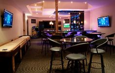 """Hoty Amazing Apps Bronze5 - Commercial-grade strobes, disco balls, colored LED lights and other fixtures can be operated via controls in the DJ booth. Operation of the traditional residential lighting is handled via same #Control4 touchpanel that commands the audio and video."" http://www.electronichouse.com/article/home_features_disco_with_professional_dj_booth"