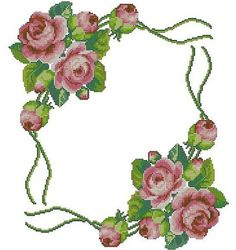 Cross Stitch Boarders, Cute Cross Stitch, Cross Stitch Rose, Cross Stitch Flowers, Counted Cross Stitch Patterns, Cross Stitch Charts, Cross Stitch Designs, Embroidery Tattoo, Crewel Embroidery